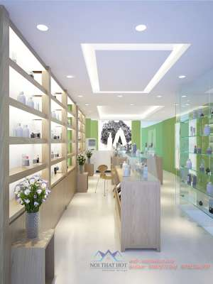 Cửa kính cường lực cho shop mỹ phẩm _ nước hoa